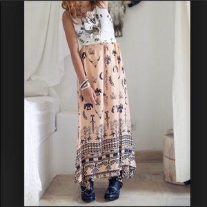 Vintage spell tribal skirt.